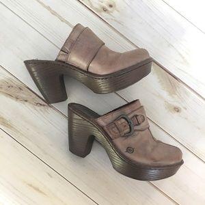 Born | Amilynn Distressed Leather Slip On Clogs